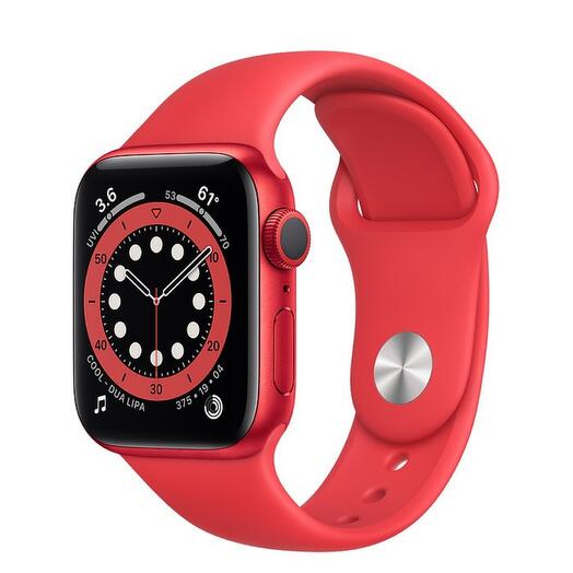 Apple Watch Series 6 GPS 40mm Aluminum Case with Sport Band, Red