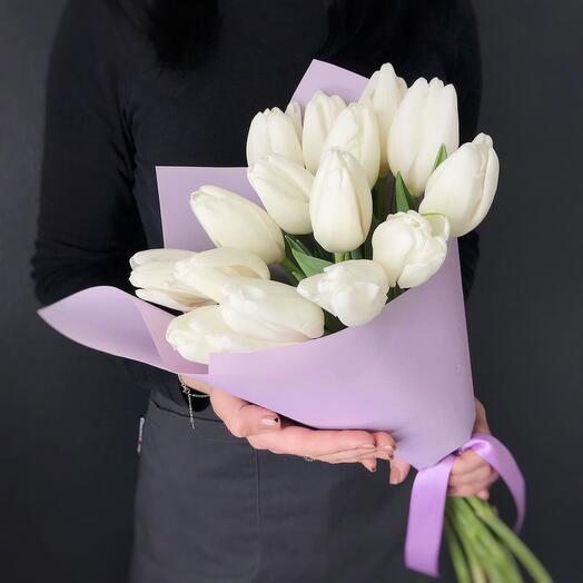 Букет из белых тюльпанов «Muna»