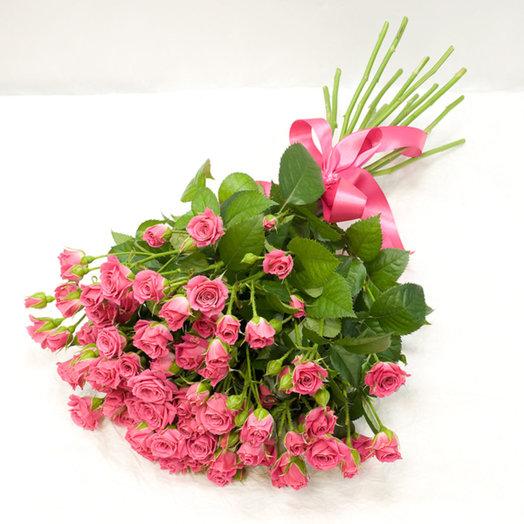 Букет из кустовых роз Романтичный розовый