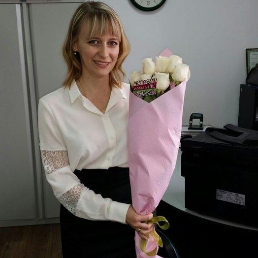 7 голландских роз: букеты цветов на заказ Flowwow