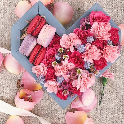 Сердце Rose: букеты цветов на заказ Flowwow