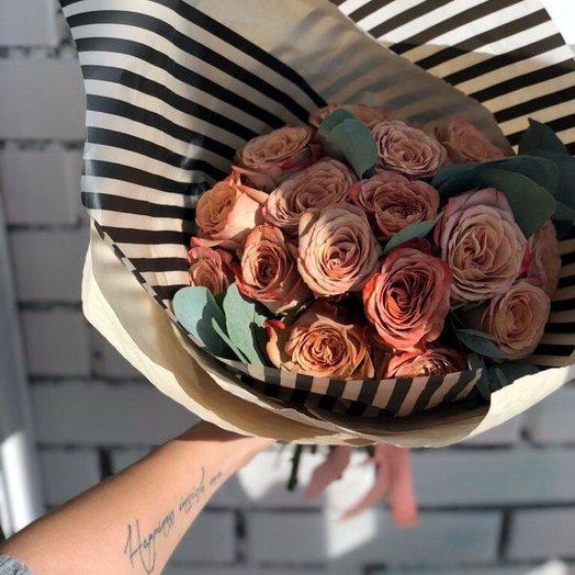 """Моно-букет из Розы """"Капочино"""": букеты цветов на заказ Flowwow"""