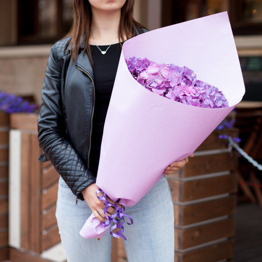 5 гортензий: букеты цветов на заказ Flowwow
