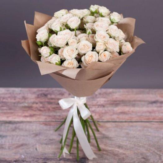 9 кустовых розочек : букеты цветов на заказ Flowwow