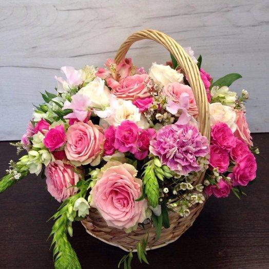 СЧАСТЬЕ в лукошке: букеты цветов на заказ Flowwow
