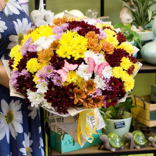 "Букет из хризантем ""Кустовые хризантемы"": букеты цветов на заказ Flowwow"