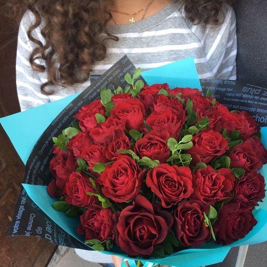 Красный прекрасный. 39 роз.