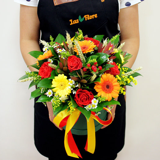 "Коробочка ""Радость сентября"": букеты цветов на заказ Flowwow"