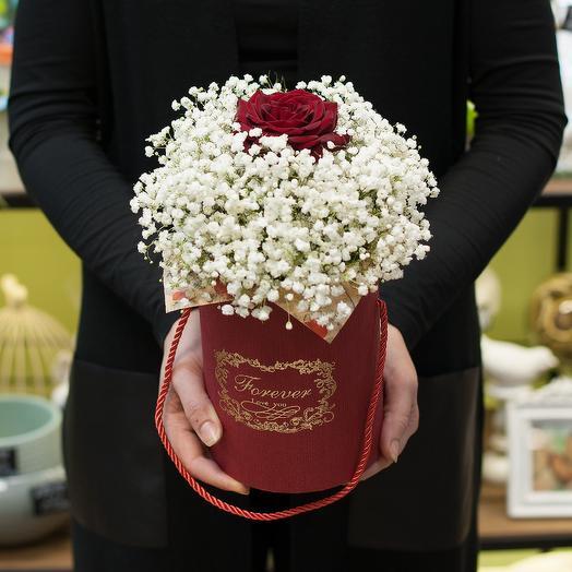 """Коробка с цветами """"Одной единственной"""": букеты цветов на заказ Flowwow"""