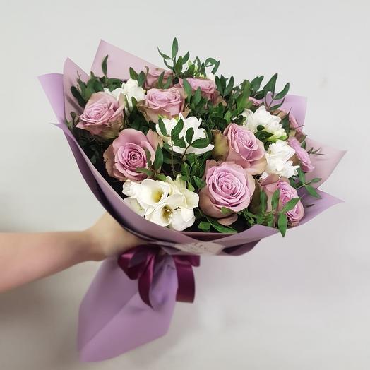 Сиреневая нежность: букеты цветов на заказ Flowwow