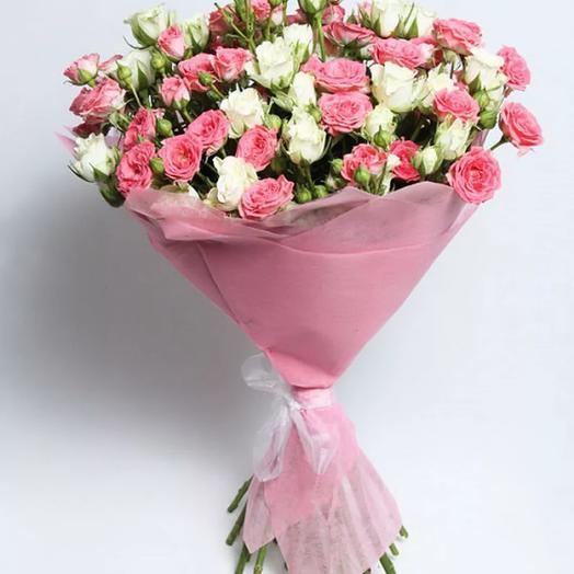 """Букет из кустовых роз """"Анжелика"""": букеты цветов на заказ Flowwow"""