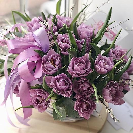 Корзинка «Бантик»: букеты цветов на заказ Flowwow