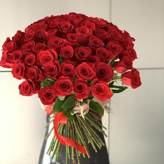 77 роз: букеты цветов на заказ Flowwow