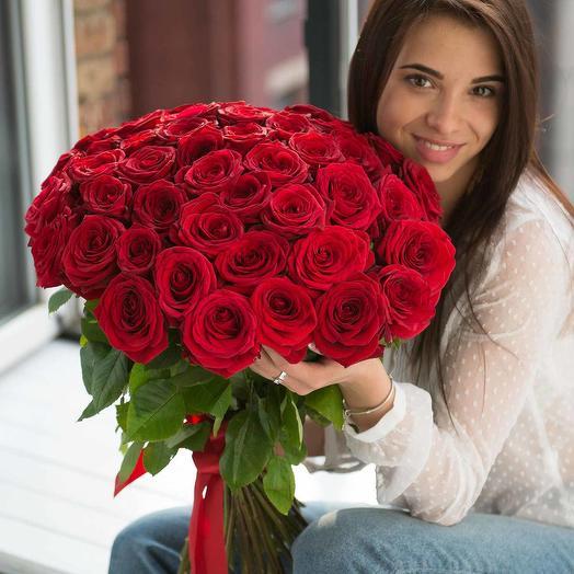 51 Роза  Red Naomi Акция: букеты цветов на заказ Flowwow