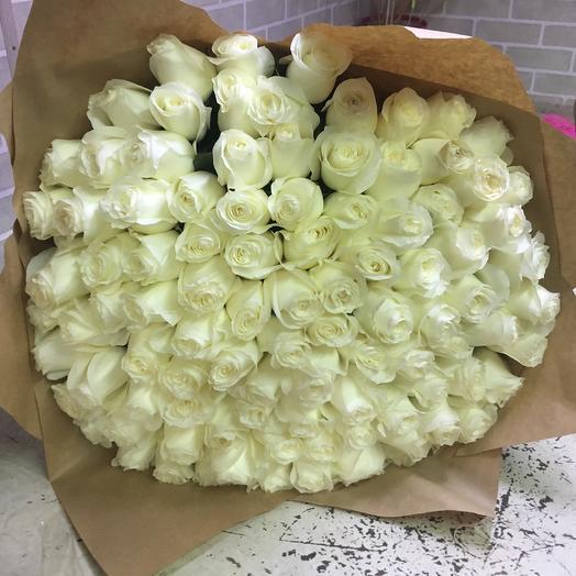 White (101 белая роза )