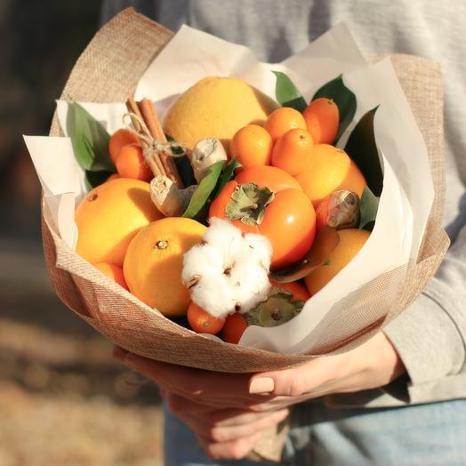 """Букет из фруктов """"Апельсиновый"""": букеты цветов на заказ Flowwow"""
