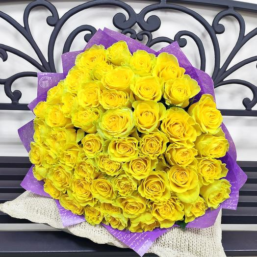"""Букет """"Любимому солнцу"""" (51 роза - 50 см.)"""