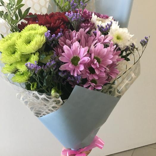 Пушистый микс: букеты цветов на заказ Flowwow