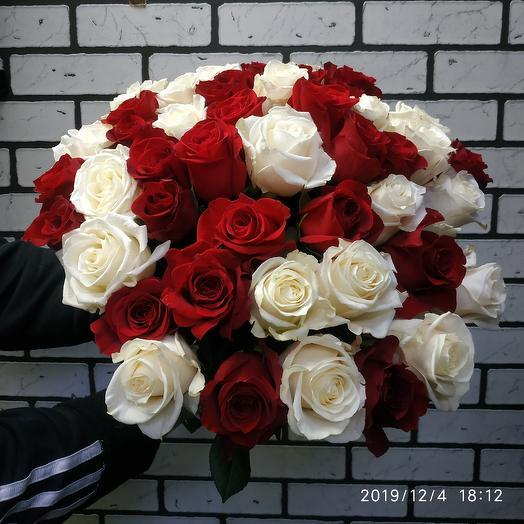 Букет из 51роза: букеты цветов на заказ Flowwow