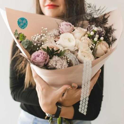 Облако сахарной ваты: букеты цветов на заказ Flowwow