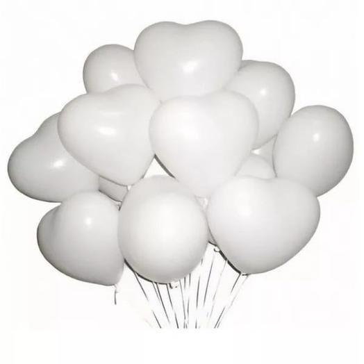 11 гелиевых шариков в форме сердца
