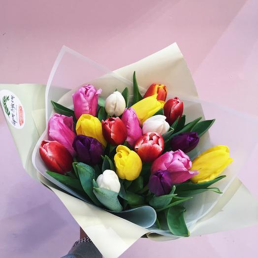 15 тюльпанов Любимой