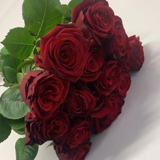 15 красных роз 50 см: букеты цветов на заказ Flowwow