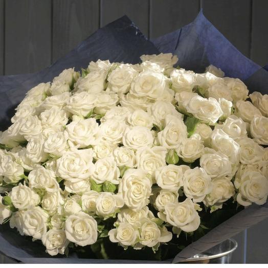 Роза кустовая 90 см: букеты цветов на заказ Flowwow