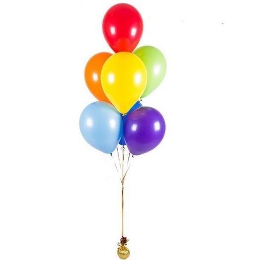 Воздушный букет из 7 шаров в ассортименте