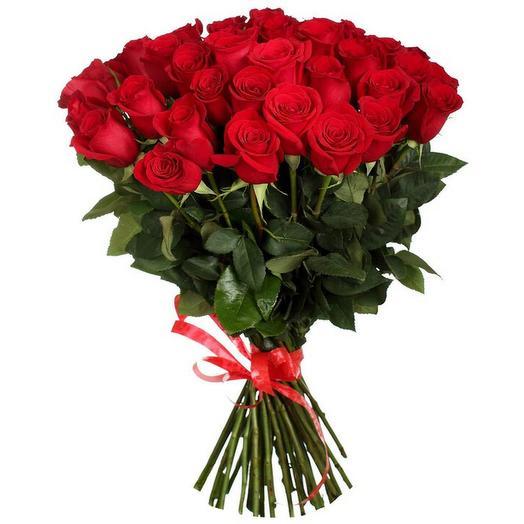 Букет из 25 эквадорских красных  роз 70 см