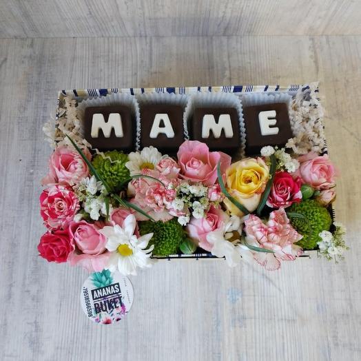 Цветы в коробке маме