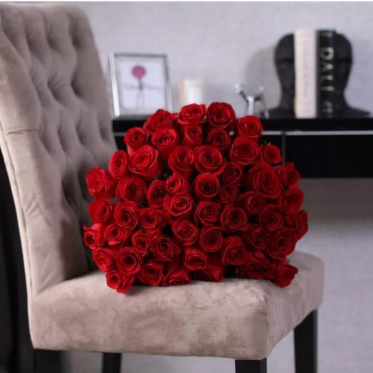 49 красных роз