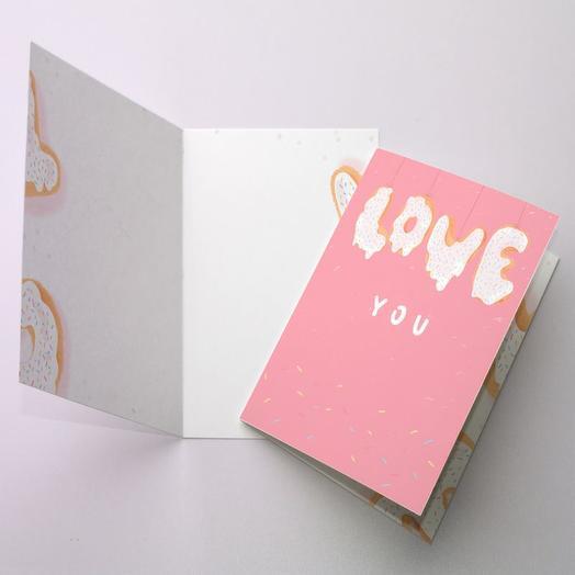Открытка поздравительная Love