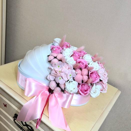 Мыльные Цветы в коробке Люлька