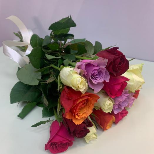 Роза микс 15 шт