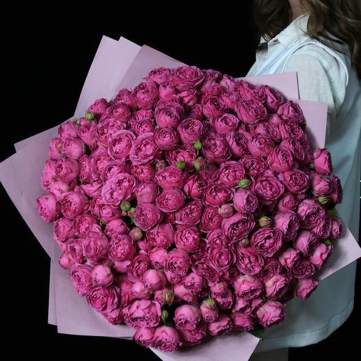 Букет XXXL пионовидных роз
