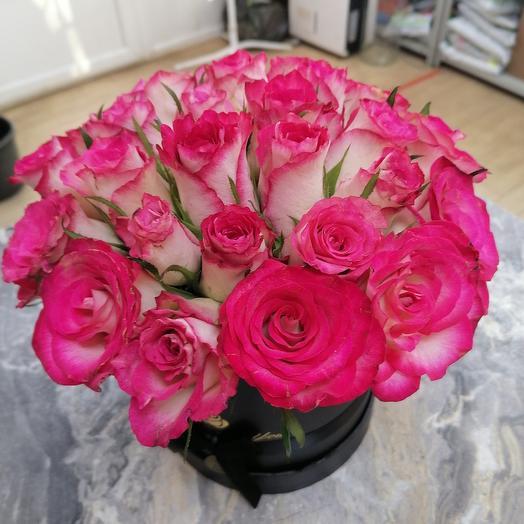 Афелия коробка 27 роз