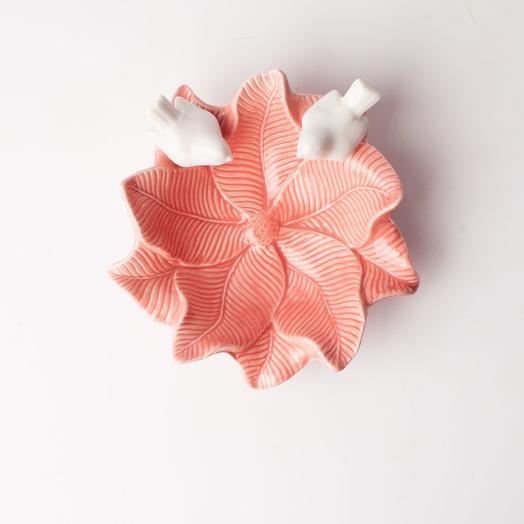 Блюдо Голубки на цветке