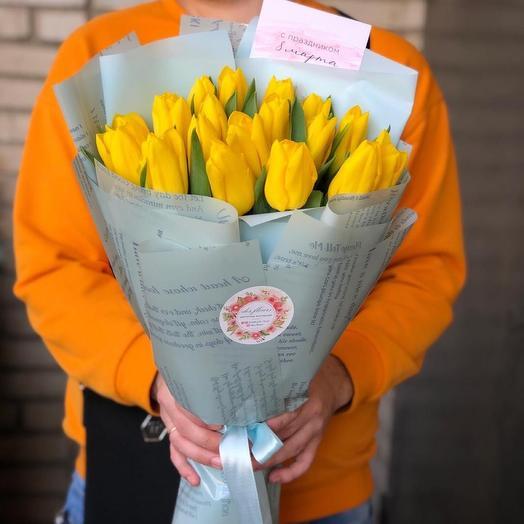 Букет тюльпанов « Солнечный «