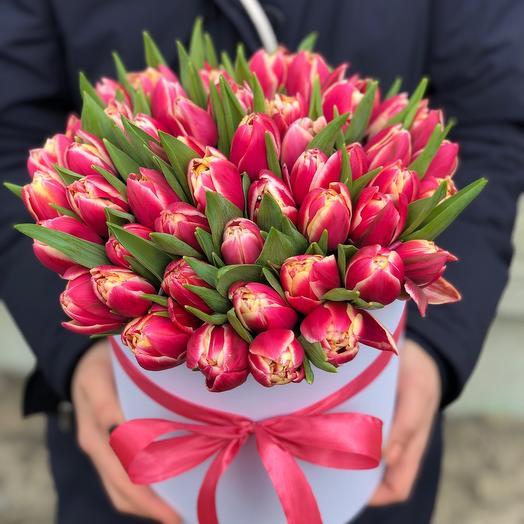 Коробочка с Тюльпанами Пионовидными