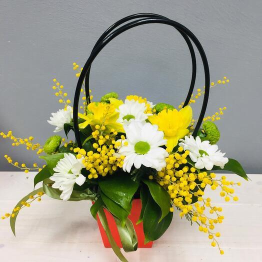 Маленькая сумочка с цветами