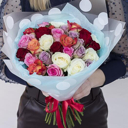 31 роза микс Кения