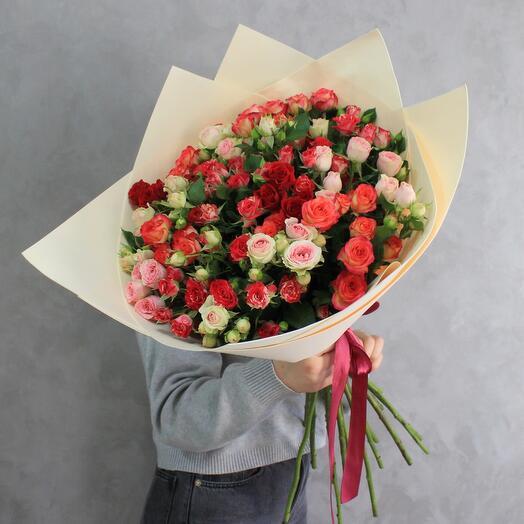 Кустовая Роза 15 микс
