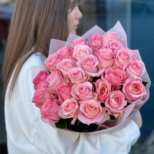 Акция на 25 роз Эквадор 60 см
