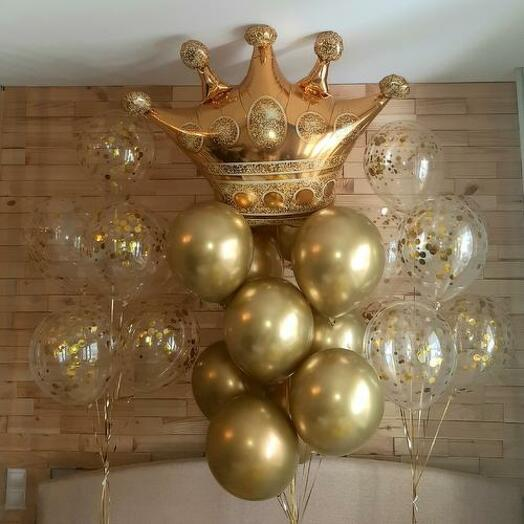 Шары воздушные Царская Корона. Супер-сет