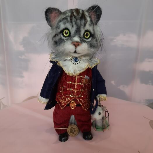 Игрушка ручной работы «Кот граф с мышкой» Carree Lune SPB