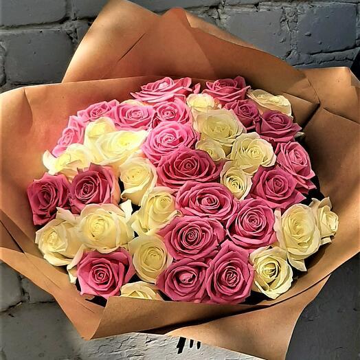 29 роз микс