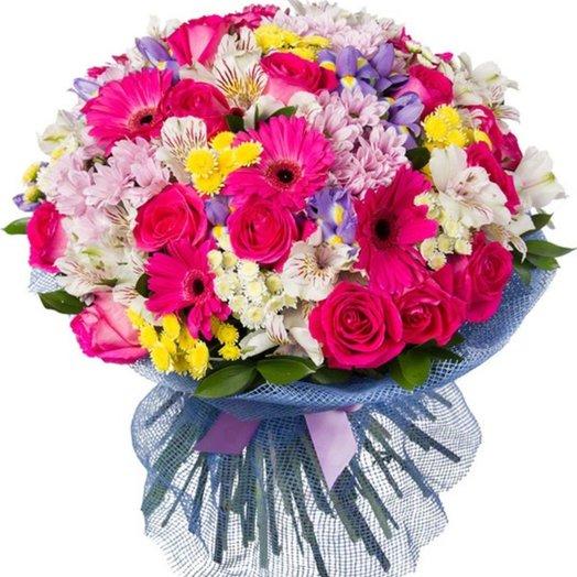 Букет Цветочная мозаика: букеты цветов на заказ Flowwow