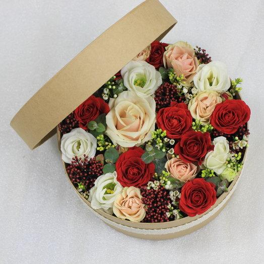 Рубиновый закат: букеты цветов на заказ Flowwow