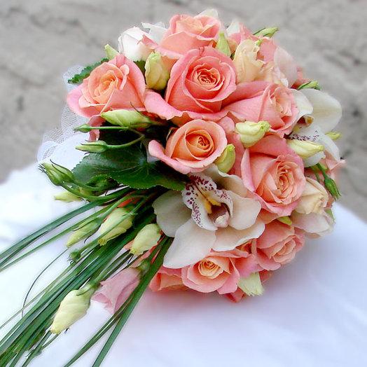 Букет невесты «Розовая нега»